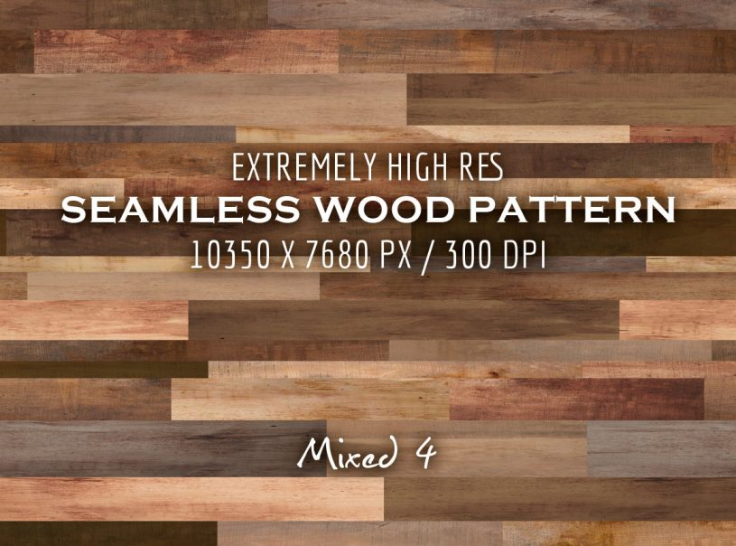 Extremely HR Seamless Tileable Wood Patterns Vol. 2 - Mixed