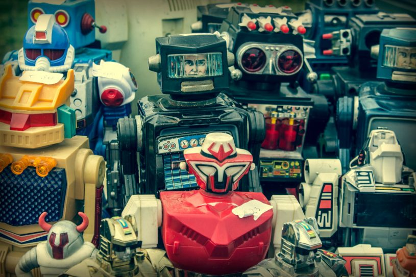 Toy Robots - Royalty Free Photo